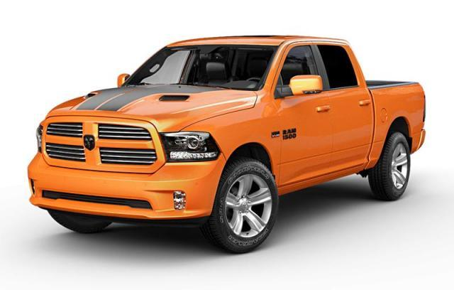 2017 Ram 1500 Ignition Orange Sport Camion cabine Crew